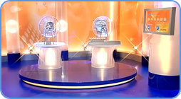 The view of TV studio where German Lotto draws take place.