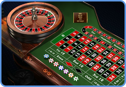 European roulette table at online casino