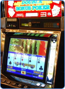 Video poker machine at the traditional casino