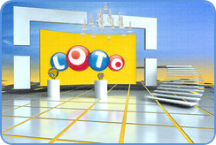 Modern look of tv studio where France Lotto draws take place