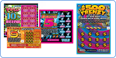 Massachusetts Lottery scratch off instant games