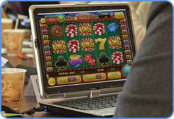 Online slots games enthusiast while playing