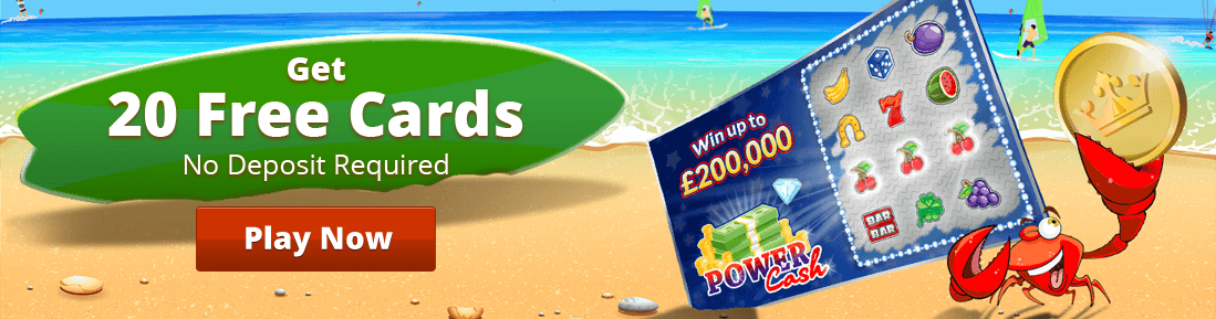 Prime scratch cards 20 free cards promotion graphic