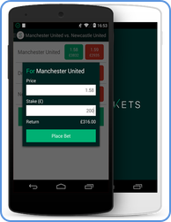 Smarket Mobile - Android betting application