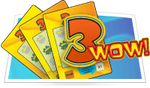 3 WOW scratch card game icon