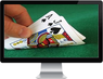 Playing card game in online casino icon
