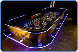 Monte Carlo casino table in Las Vegas, include roulette game.