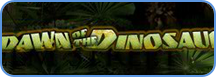 Dawn of the Dinosaurs slots game logo