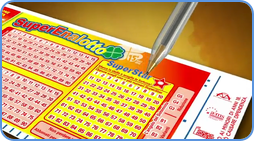 Superenalotto blank coupon play-slip