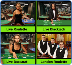 Casino games with live dealer