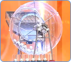 German Lotto - draw machine in TV studio
