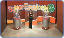 Superenalotto draw in TV studio