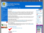 Michigan Lottery Charitable Gaming page view